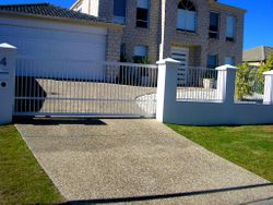 VERTICAL BAR SLIDING GATE AND FENCE PANELS
