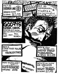 1982-11-13 Goofy's Upper Deck, Minneapolis, MN