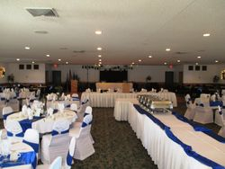 Banquet hall prior to guests
