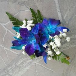 Blue Singapore Orchid corsage