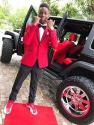 Slim Fit Red Jacket