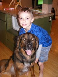 Best buds, Jack loves kids :)