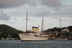 'Talitha' - one of the superyachts in Falmouth Harbour
