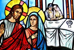 Jesus and Mary at the Wedding of Cana