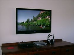 Sony TV Premium Installation above dresser