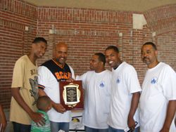 The presentation of the Good Father is a Great Man Life time achievement Award! 2011