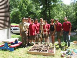 We donated a Square Foot Garden to the Camp Master.