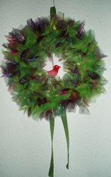 Wreath with tiny bird