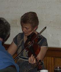 Jayne on fiddle