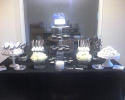 Sweet 16 Black & White Dessert Table