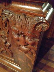 Green man on the North Ridge sideboard