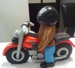 Fondant Motorcycle Cake Topper