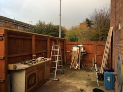 Clear out for shed build