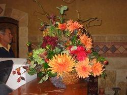 large arrangement on tasting bar