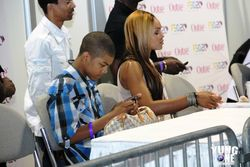 "Demetria McKinney & Her Son At ""FSO"""