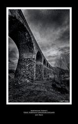 Martholme Viaduct, Great Harwood, Lancashire, England (B&W)