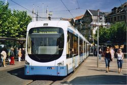 Modern Rhein-Neckar Variobahn Tram