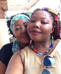 Fanta w/ Tochanta age 16, Conakry, Guinea