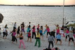 Zumba on Navarre Beach