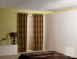 CROWN RIALTO GLOSS OYSTER (PALE CREAM) BEDROOM