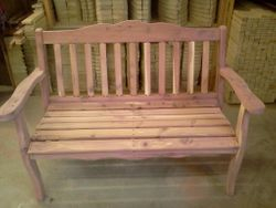 Red cedar park bench