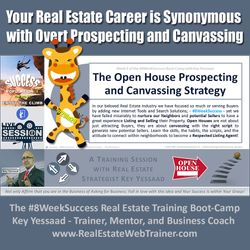 Your Career is Synonymous with Overt Prospecting and Canvassing - Week 2 Jan 2020 - #8WeekSuccess