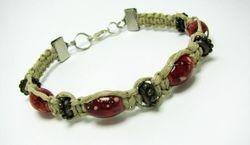 Hemp bracelet with Acrylic Beads