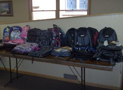 Backpack Giveaway in Mallard