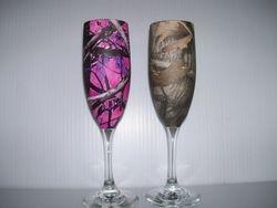 Camo Champagne Glasses