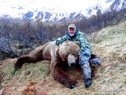 Dave and his record book Brown Bear
