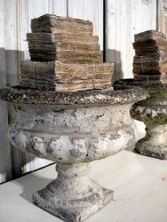 #16/065 Pair of Concrete Urns