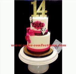 Panda Themed Birthday Cake