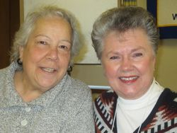 Mary Lou Charron with Barbara  Palmer