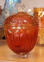 Blocked Diamonds covered pot, marigold, manufacturer?