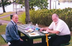 Kevin & me enjoying a picnic at Newstead House - Sep 2005