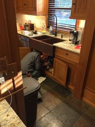 Plumbing and Copper Farm Sink Installation