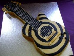 Electric guitar birthday cake