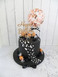 Confetti Balloon Birthday Cake