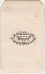 Lawrence, photographer of Newburgh, NY 1861-1866 - back