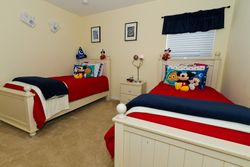 Mickey Themed Twin Bedroom
