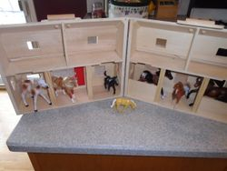 Melissa & Doug Large Fold & Go Barn with 6 Horses - $30