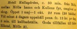 Hotell Kullagarden 1920