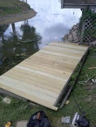 Lake side deck