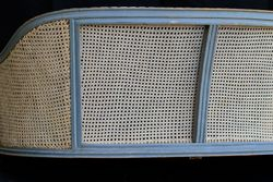 Antique Caned Settee Side View
