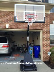 sears portable basketball hoop assembly service in DC MD VA