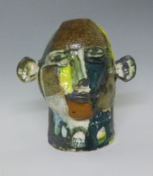 Mary Jones Ceramics.  Running up mountains.  SOLD