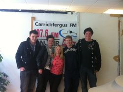 Sons of encouragement - Chris taylor, Matthew duly, Ben Calwell and Darren on with Maurice