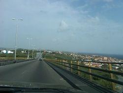 Driving on the Juliana Bridge