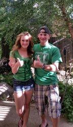 Amanda and Jake give 2 thumbs up