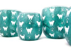 Teal and White Mussy Cats